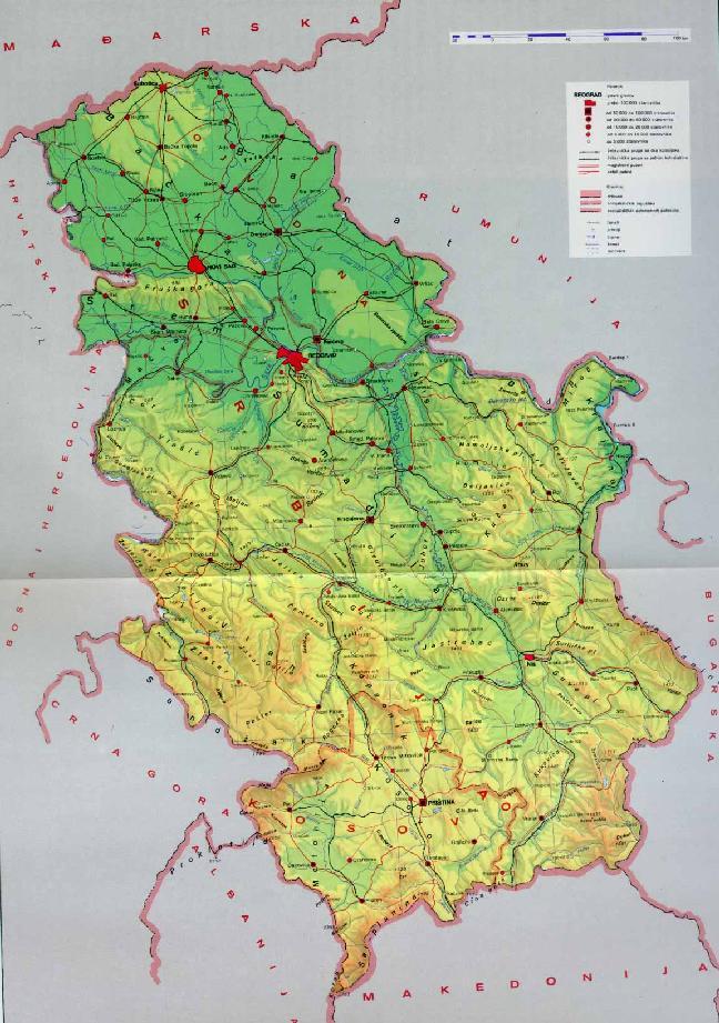 karta srbije jezera Mesta u Srbiji karta srbije jezera